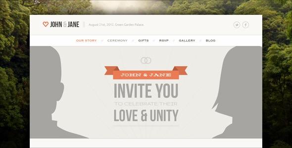 Wedding v1.3.17 – Themeforest Responsive Single Page WP Theme