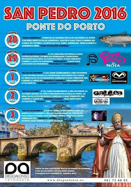 Camariñas 2016 - Festas de San Pedro de Ponte do Porto - cartel