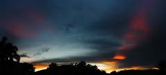 fully flared sunset