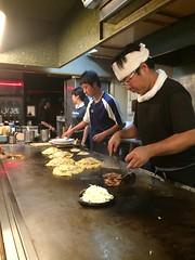 Our chefs finishing up our dinner (Hiroshima, Japa…