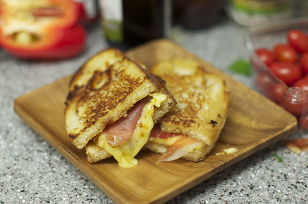 Grilled Cheese and Prosciutto