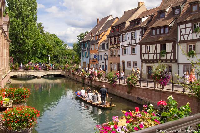 フランスのコルマールの街並み