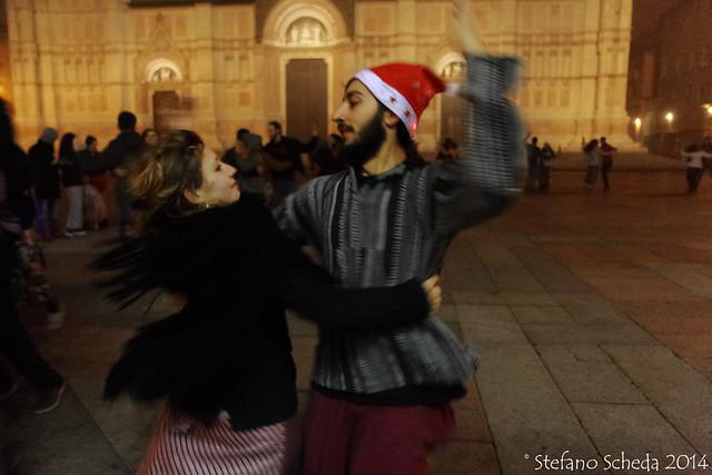 Midnight swirling - Piazza Maggiore, Bologna, Italy