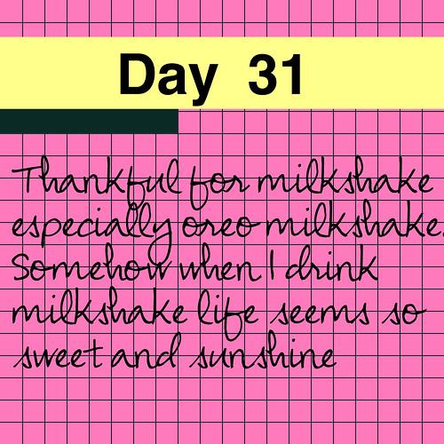 Day 31: Milkshake