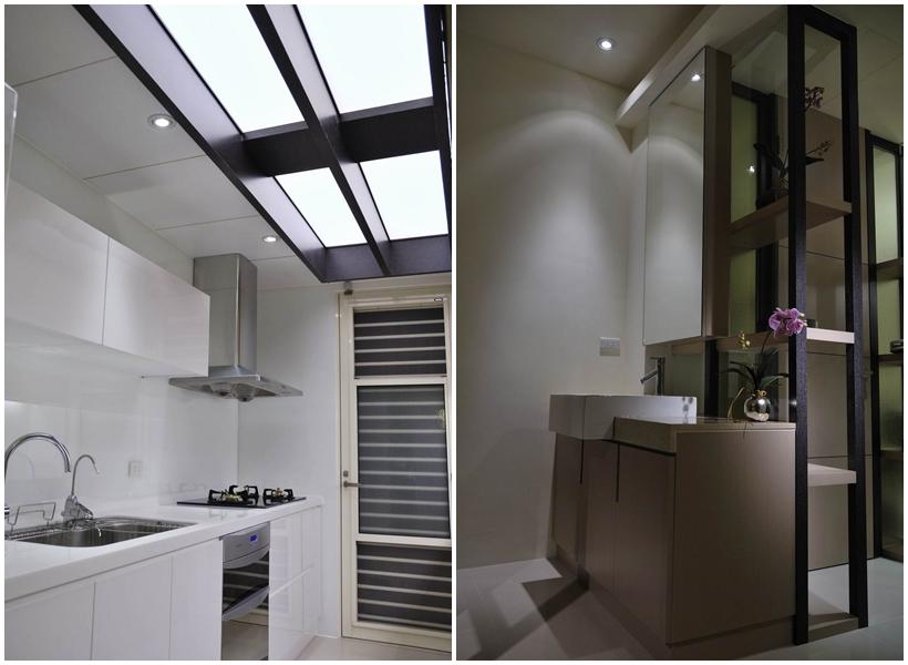 明亮潔淨的廚房空間