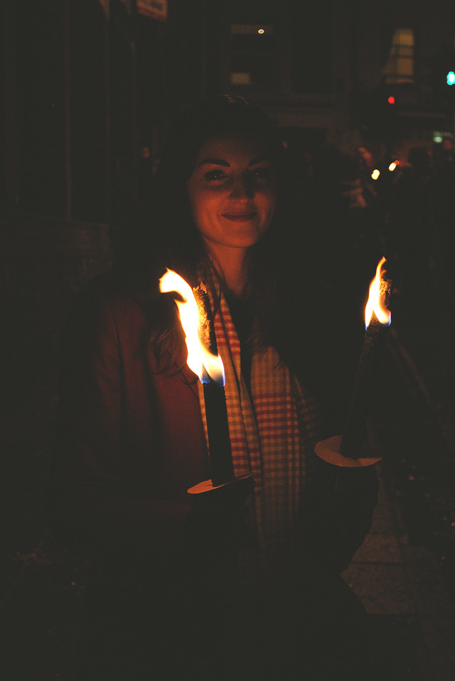 Lauren with Torches 1