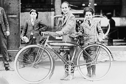 Times Boy and bicycle 1921