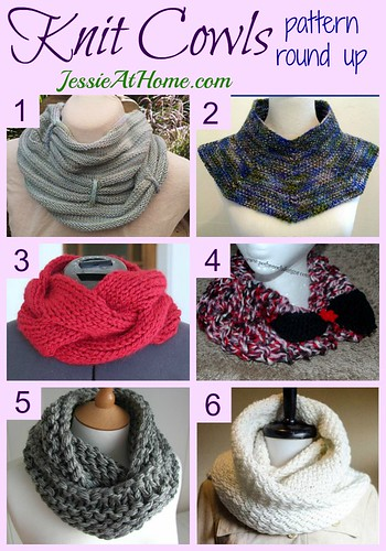 Knit Cowls Pattern Round Up from Jessie At Home