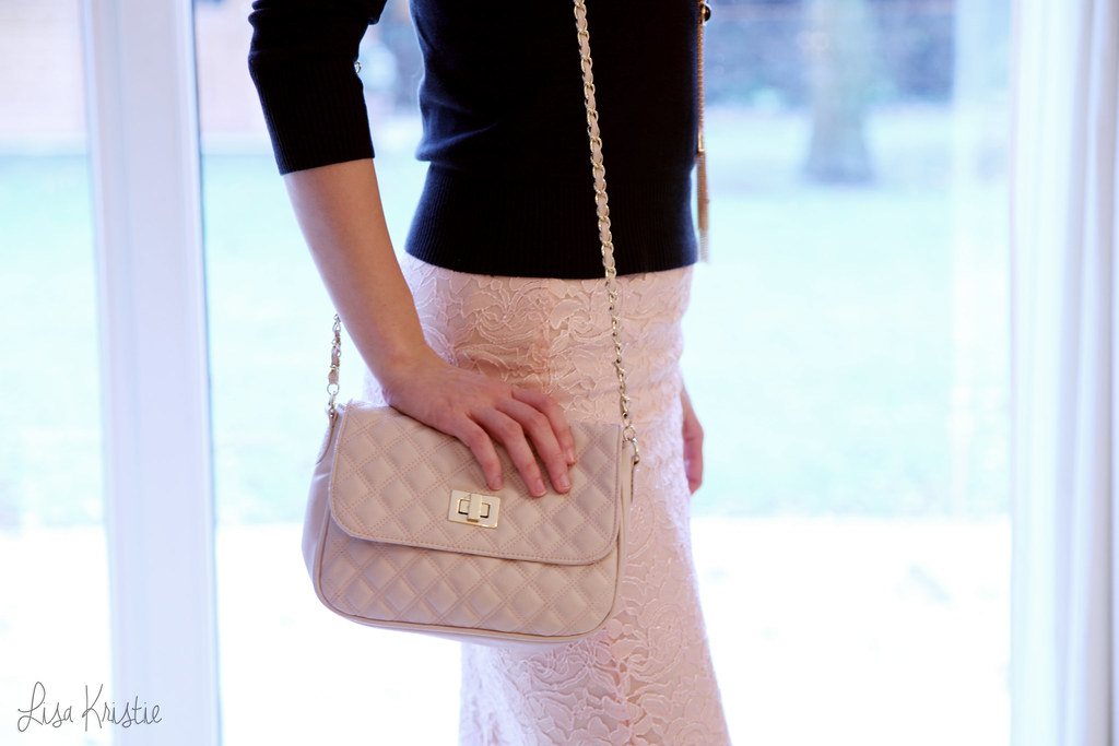 forever21 forever 21 haul review clothes outfit accessories black sweat pink peach lace skirt long necklace purse chain