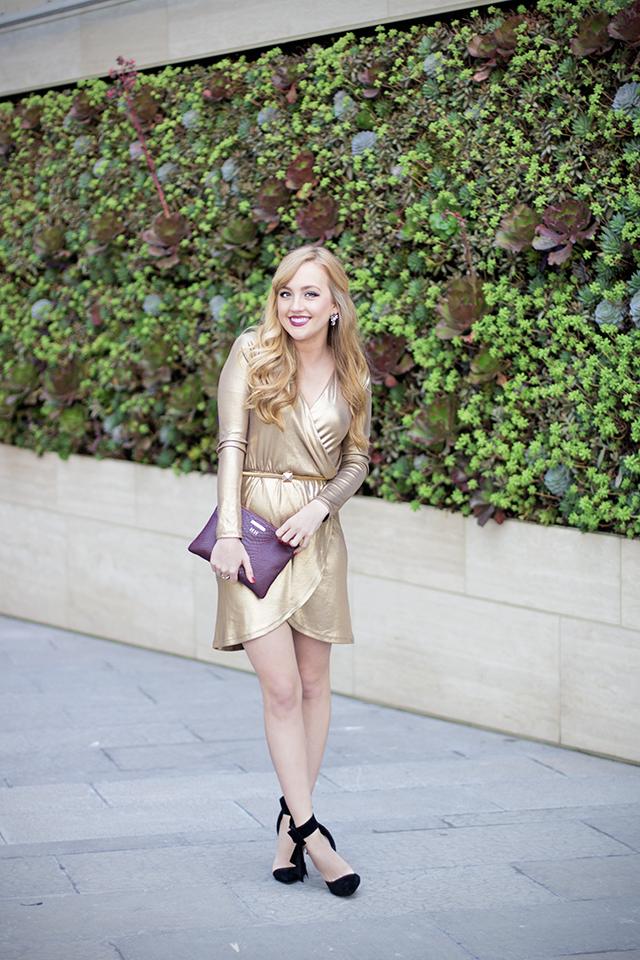 gold goddess style dress