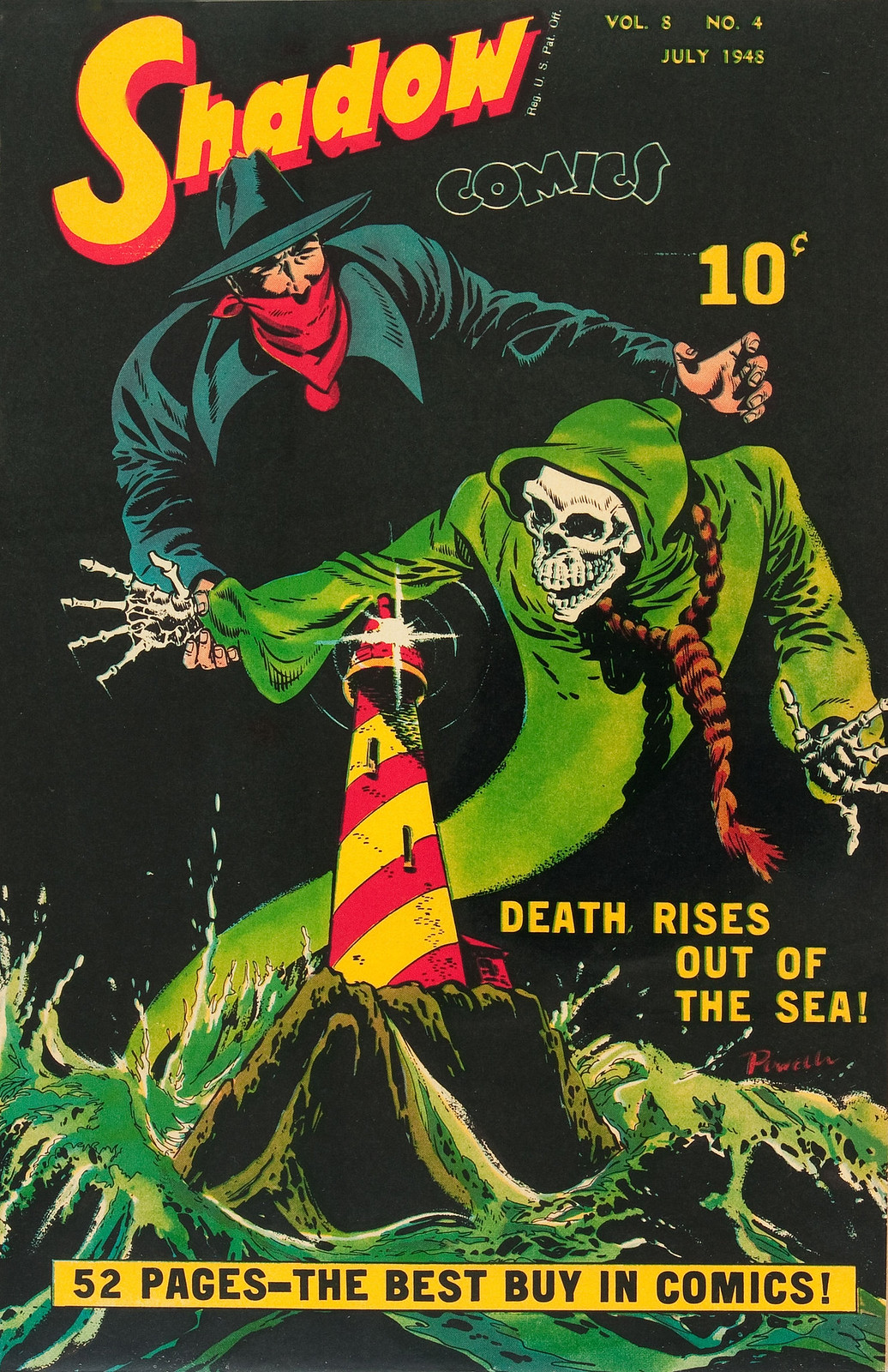 Shadow Comics V8#4 (Street & Smith, 1948) Bob Powell Cover