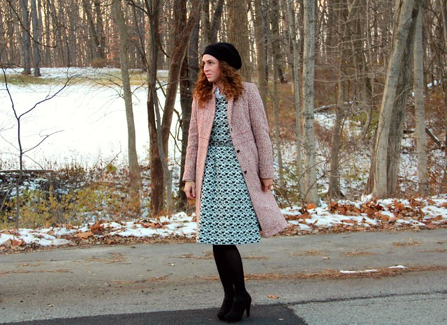 how to style a midi sweater dress cute modest outfit via Kristina J blog