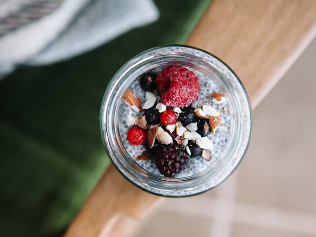 Mixed berry chia pudding