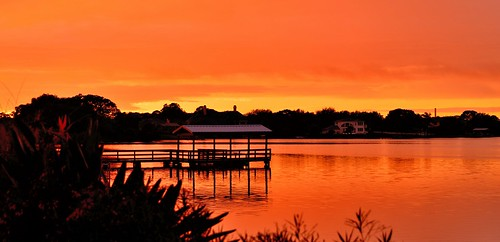 world sunset orange color colour art beautiful landscape bay photo dock nikon quiet colours arty artistic creative peaceful saltlake fl colourful nikkor 28300mm tarponsprings d610 paultrottier saltlakebay