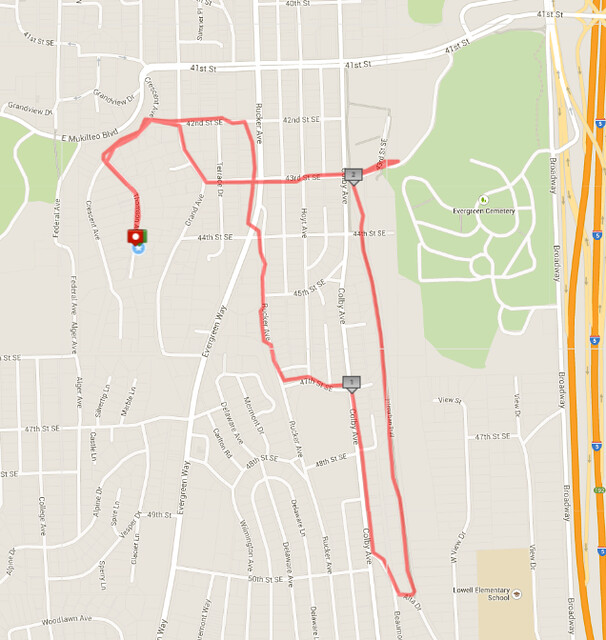 Today's awesome walk, 2.84 miles in 51 minutes