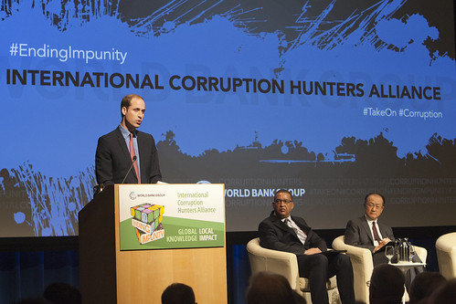 HRH Prince William Duke of Cambridge Speaks at the Third Annual International Corruption Hunter Alliance