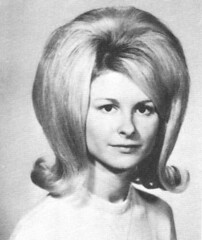high school senior 1967 and big hair back combed and maybe a hair piece too