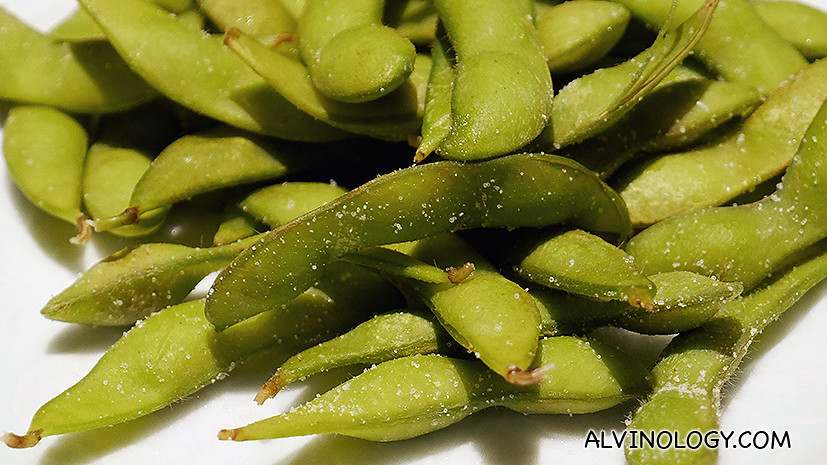 Edamame (young soy bean pods) - S$12