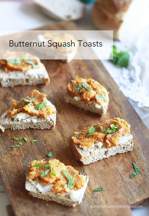 butternut squash toasts inspired by abc kitchen