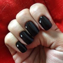 unhas #black pro evento de mais tarde... #nails #prom #formatura