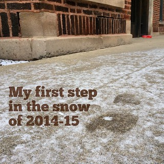 My first step in the snow of 2014-15