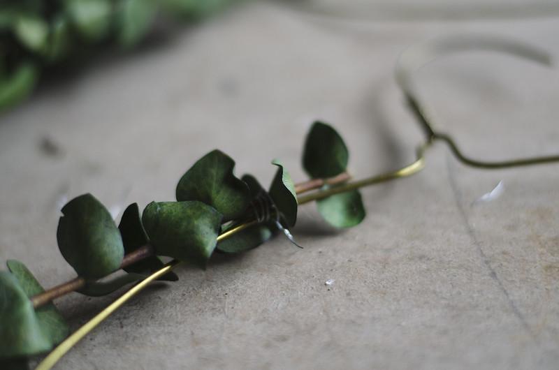making Eucalyptus wreaths on juliettelaura.blogspot.com
