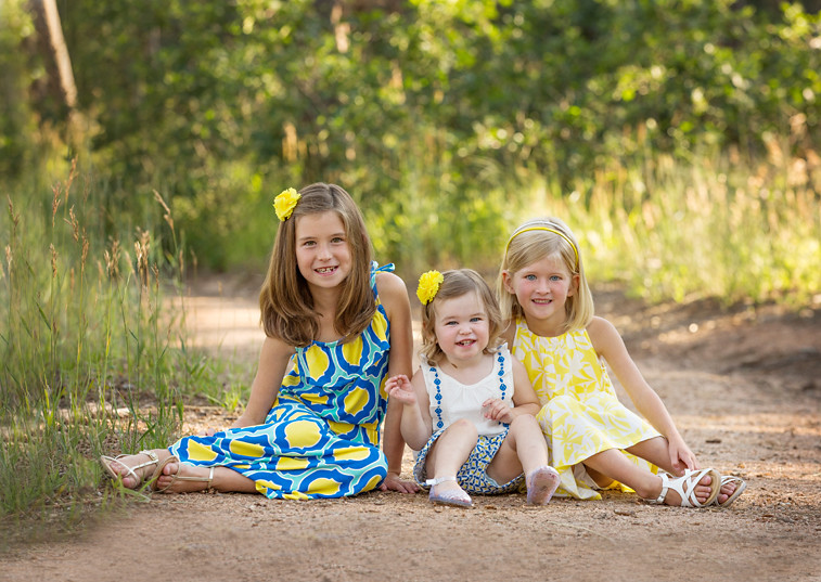 colorado springs family portrait photographers Monument girls sisters
