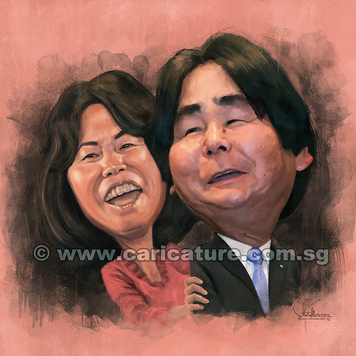 digital couple caricatures of Mr & Mrs Ohshiro for Enagic Singapore (small) (watermarked)