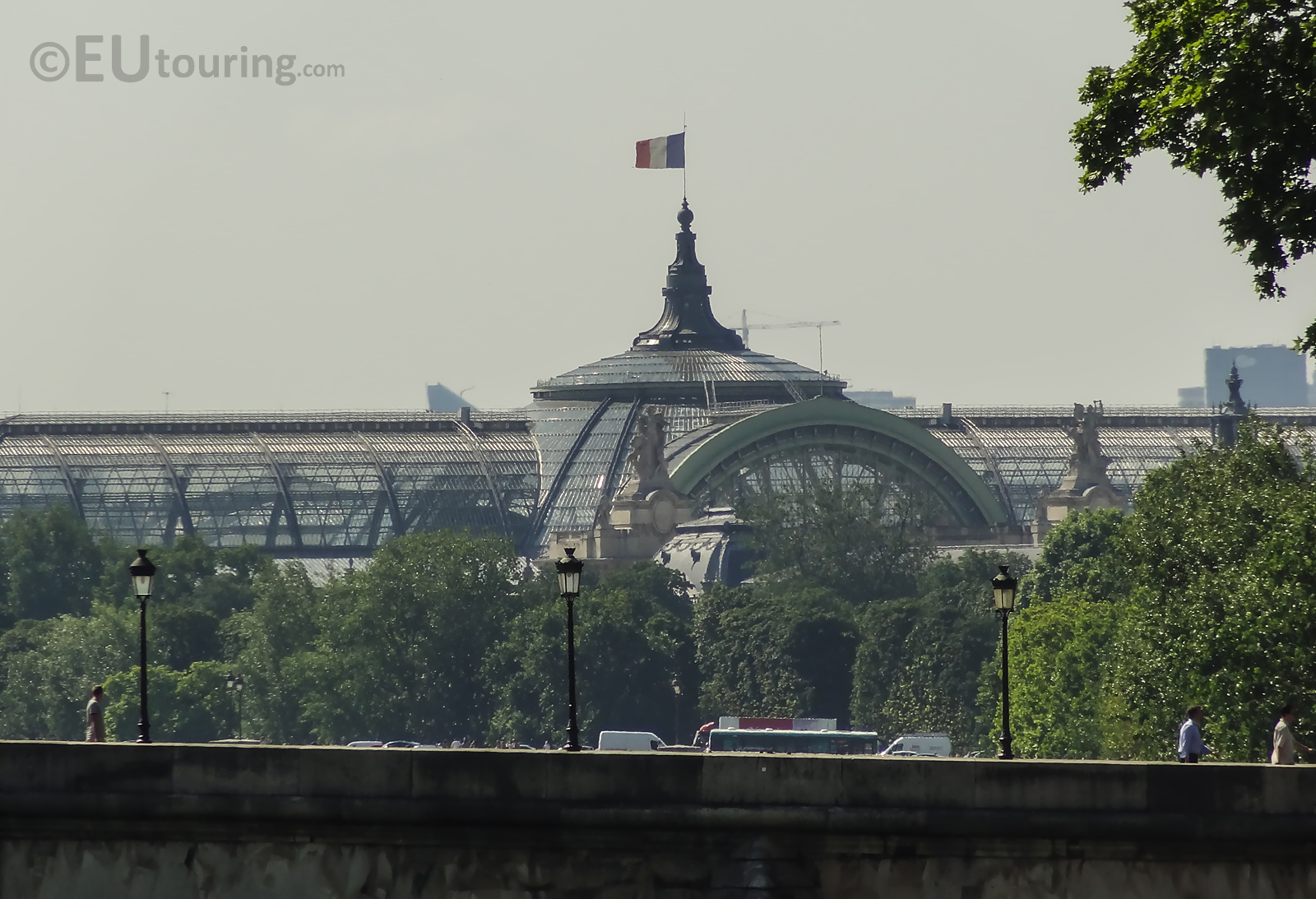 Glass and steel roof of the Grand Palais