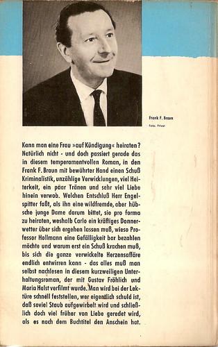 Frank F. Braun: Von Liebe reden wir später