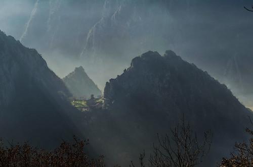 winter mist mountain mountains church fog nikon hiking explore monastery macedonia orthodox matka d5100