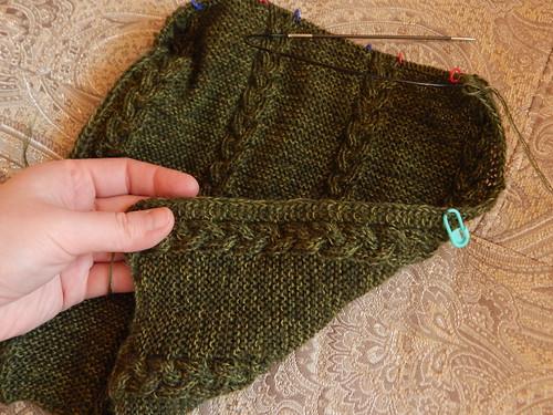 шарф с другой стороны в процессе
