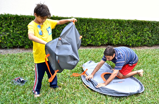 pop up tents - camping with kids