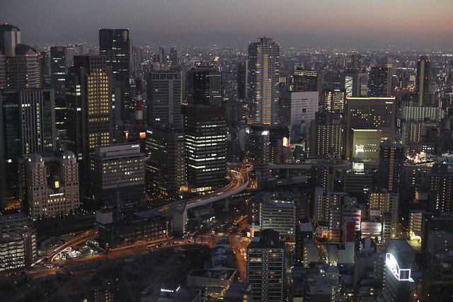 Osaka view by night