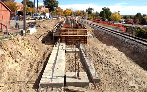 Photo of construction on the Olde Town Arvada Station, Oct. 24, 2014