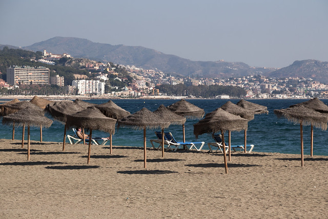 Rest and Relaxation - Malaga Beach Palapas