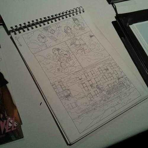 Ink drawing, Ms. marvel #1 #toronto #tcaf #masonictemple #msmarvel #adroanalphona