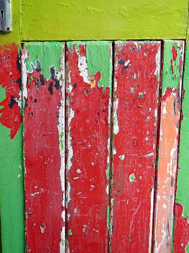 Brightly-coloured door in Dingle, Ireland