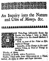 An Inquiry into the Nature and Uses of Money page