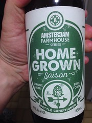 Beersperiment; Amsterdam farmhouse Home Grown (Ontario) me: 3* @halyma: 2*