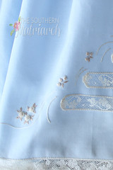 Embroidered Skirt of Smocked Daygown