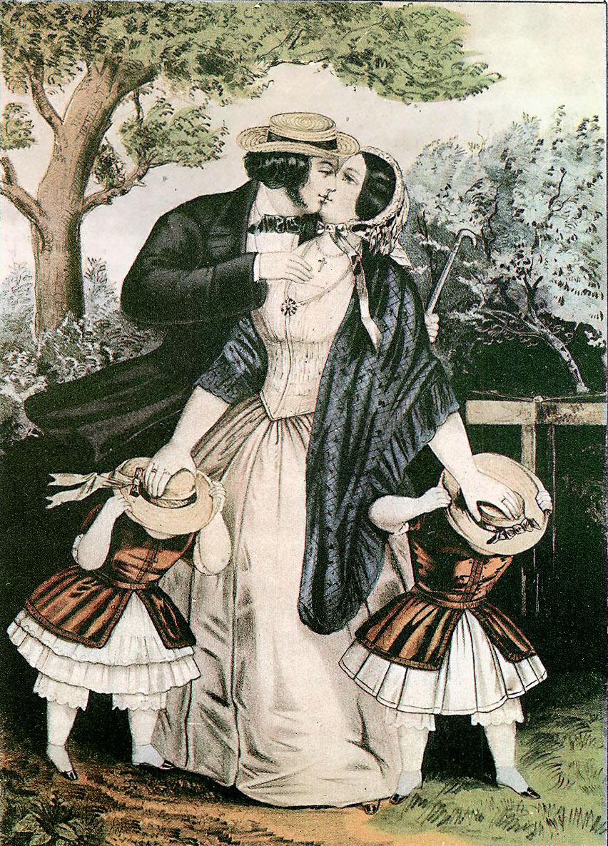 Kiss-me-quick, 1840s
