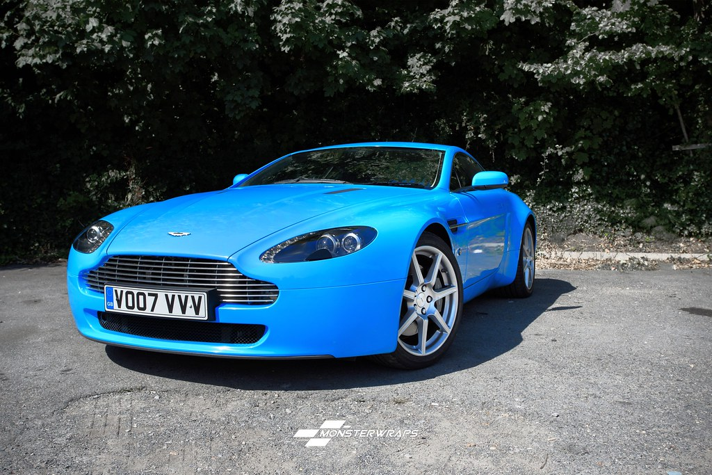 aston martin db8 gloss light blue wrap | aston martin db8 gl… | flickr