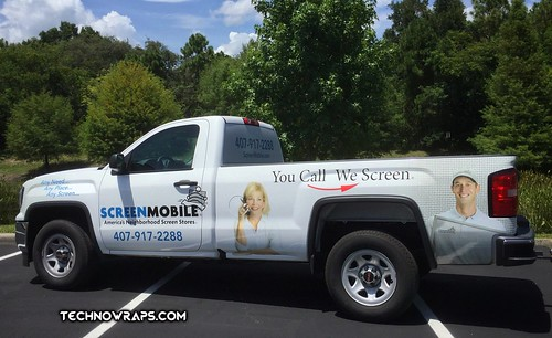 Full vinyl truck wrap designed by TechnoSigns in Orlando