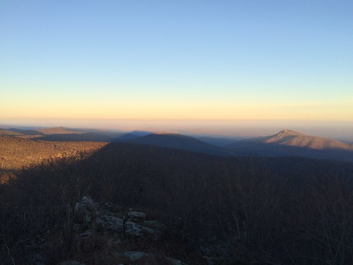 Sunset Shadow of Hawksbill Mountain, Shenandoah