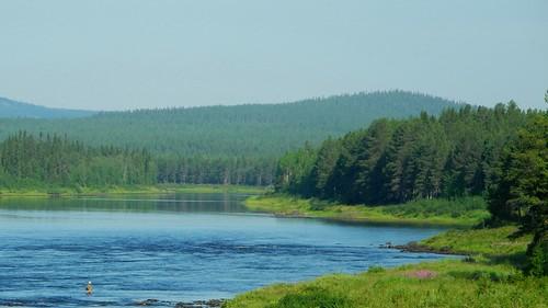 summer sol finland river landscape geotagged july lapland fin lappi 2014 kemijoki savukoski 201407 20140721 geo:lat=6729030755 geo:lon=2815795898 halosentie