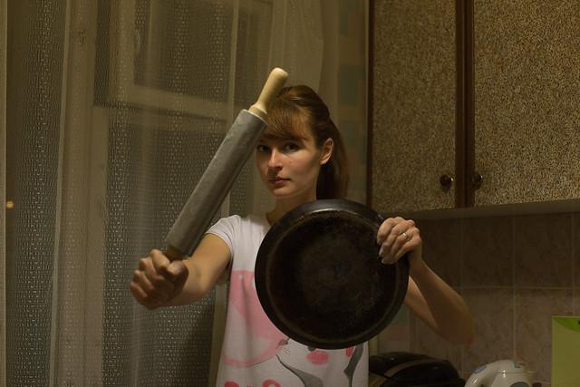 Битва со сковородкой