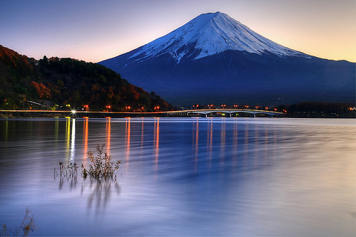 sunset lake japan volcano fuji 日本 fujisan 富士山 kawaguchiko volcan