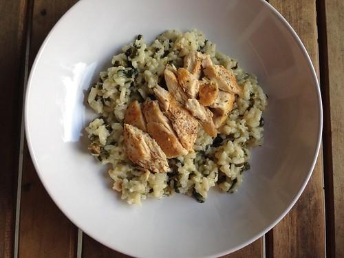 Chicken piccata risotto