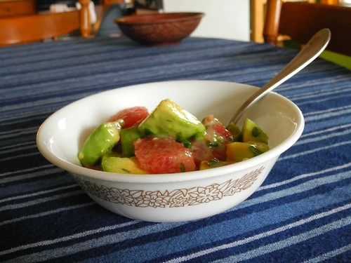 Grapefuit-avocado salad